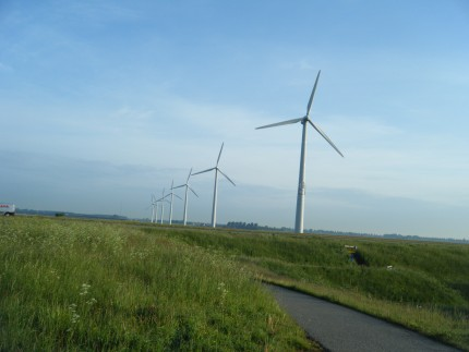 They have modern wind mills, too.