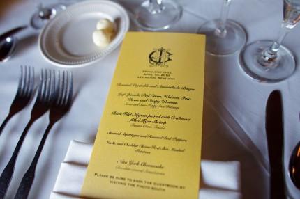 Wedding menu 430x286 - Photo from Eric Graf Photography.