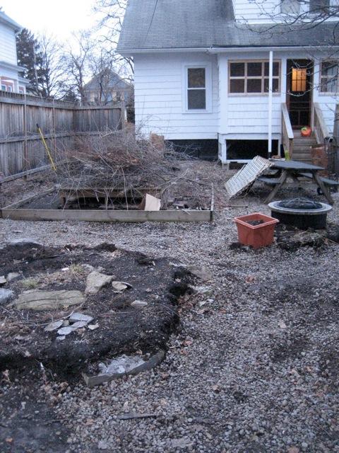 Yard before