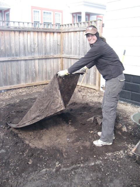 Yard taking up fabric - Backyard Face-Lift, Part 1