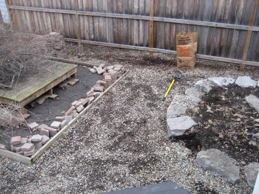 yard removing rocks and zen garden - Backyard Face-Lift, Part 1