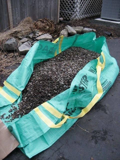 yard rocks in bagster - Backyard Face-Lift, Part 1