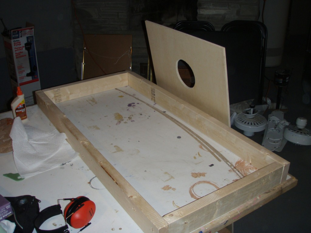 Cornhole frame 1024x768 - How to make your own Cornhole board