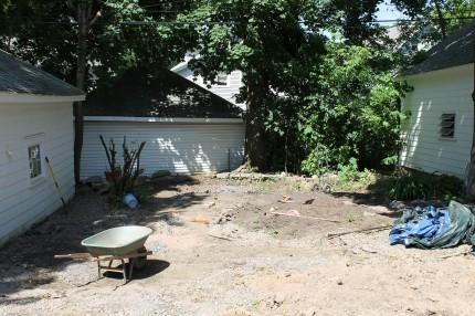 Backyard progress 430x286 - It's Not Easy Being Green