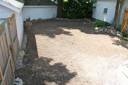 Yard ready for sod.