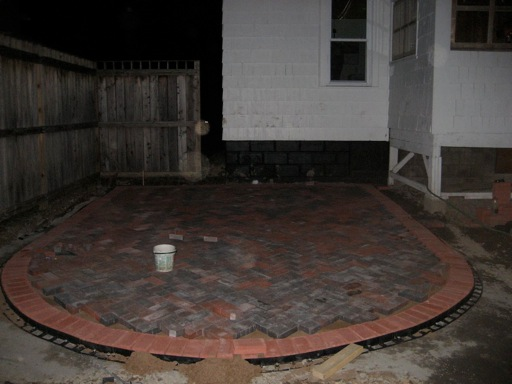 Patio late into the night - Patio and Back Yard Reveal
