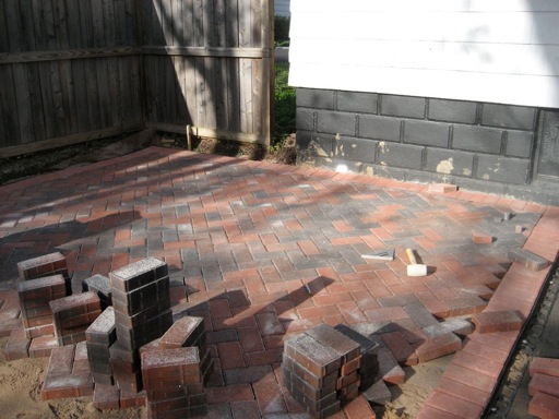 Start of the patio