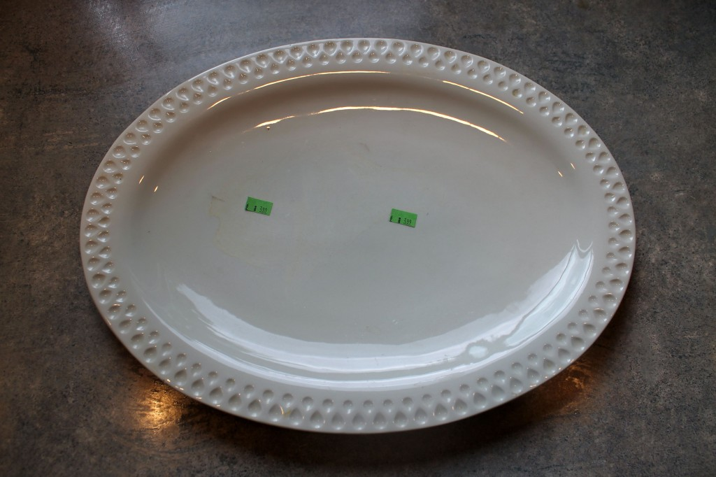 Tray before