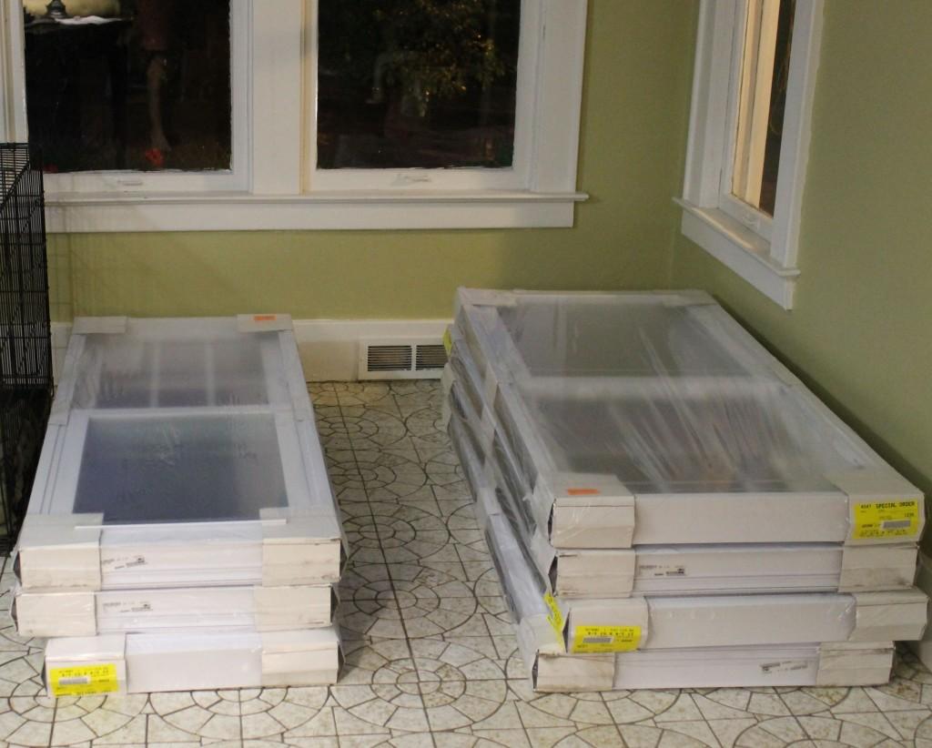 Windows in plastic wrap
