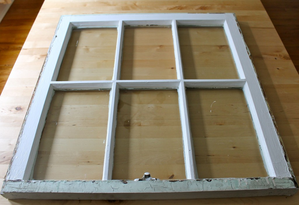 Window pane- before