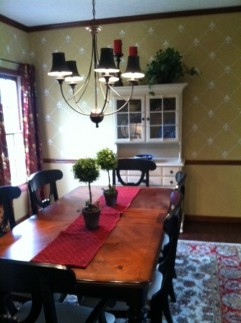 Amanda 2 after 241x323 - Stenciled Dining Room