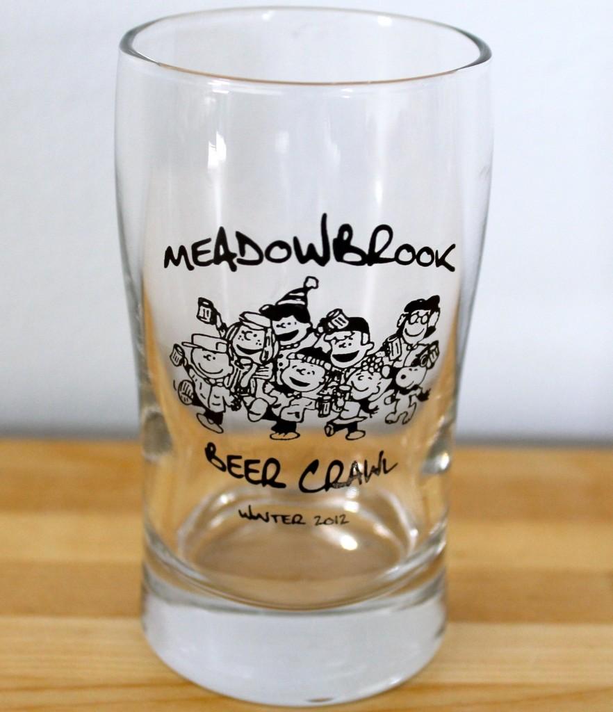 Beer tasting glass