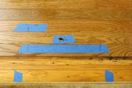 Floor cut where return will be 430x286 - Floor cut where return will be