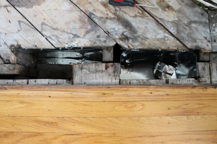 Floor with holes and duct work 430x286 - Duct work repaired