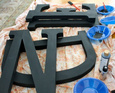 Letters black 400x323 - 1st coat of black