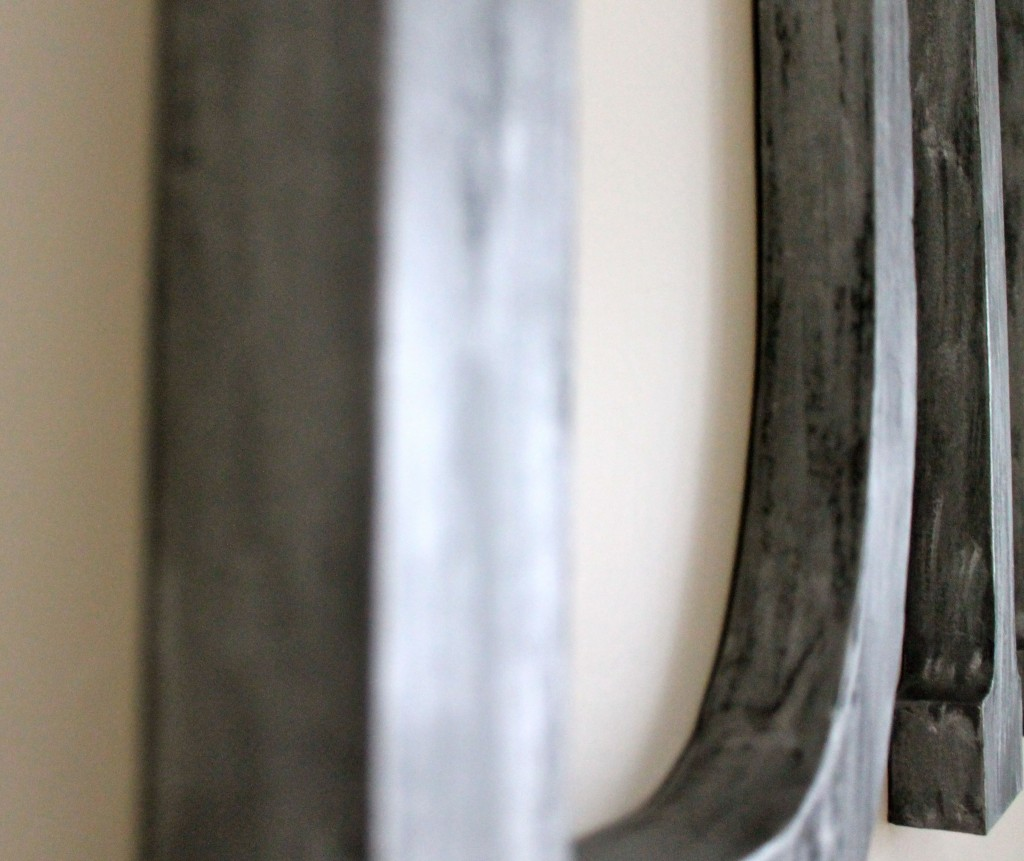 Letters close up 1024x861 - Easy Dining Room Art