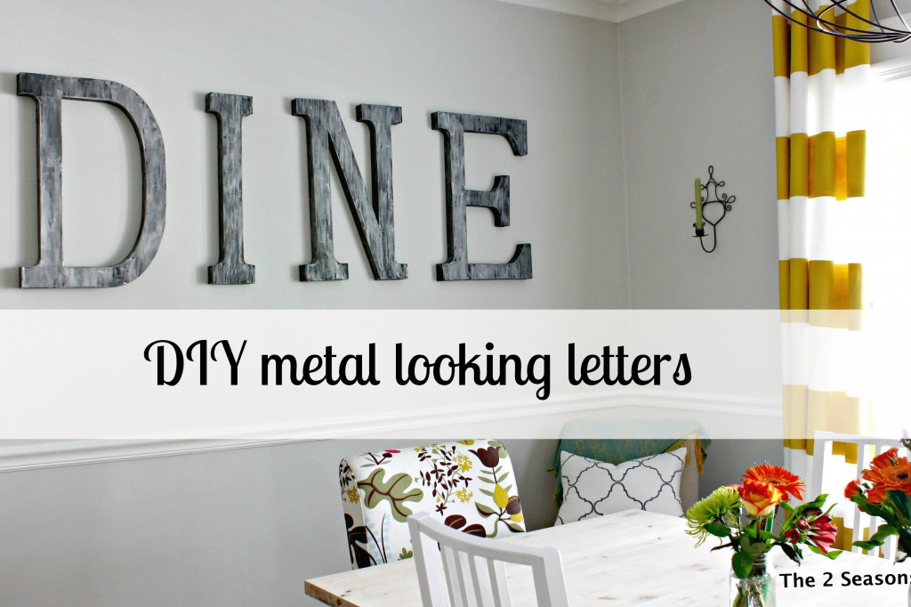 DIY Metal looking art