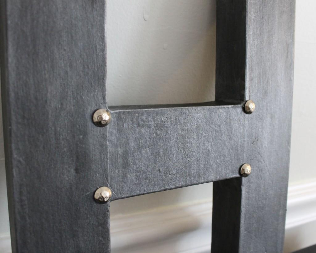 H more pins 1024x821 - Another Faux Zinc Letter
