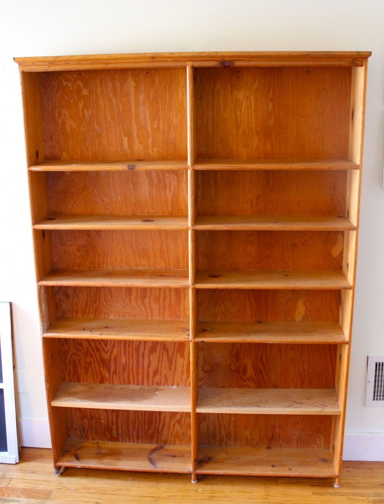 Bookshelf Before 780x1024 - Almost Free Makeover