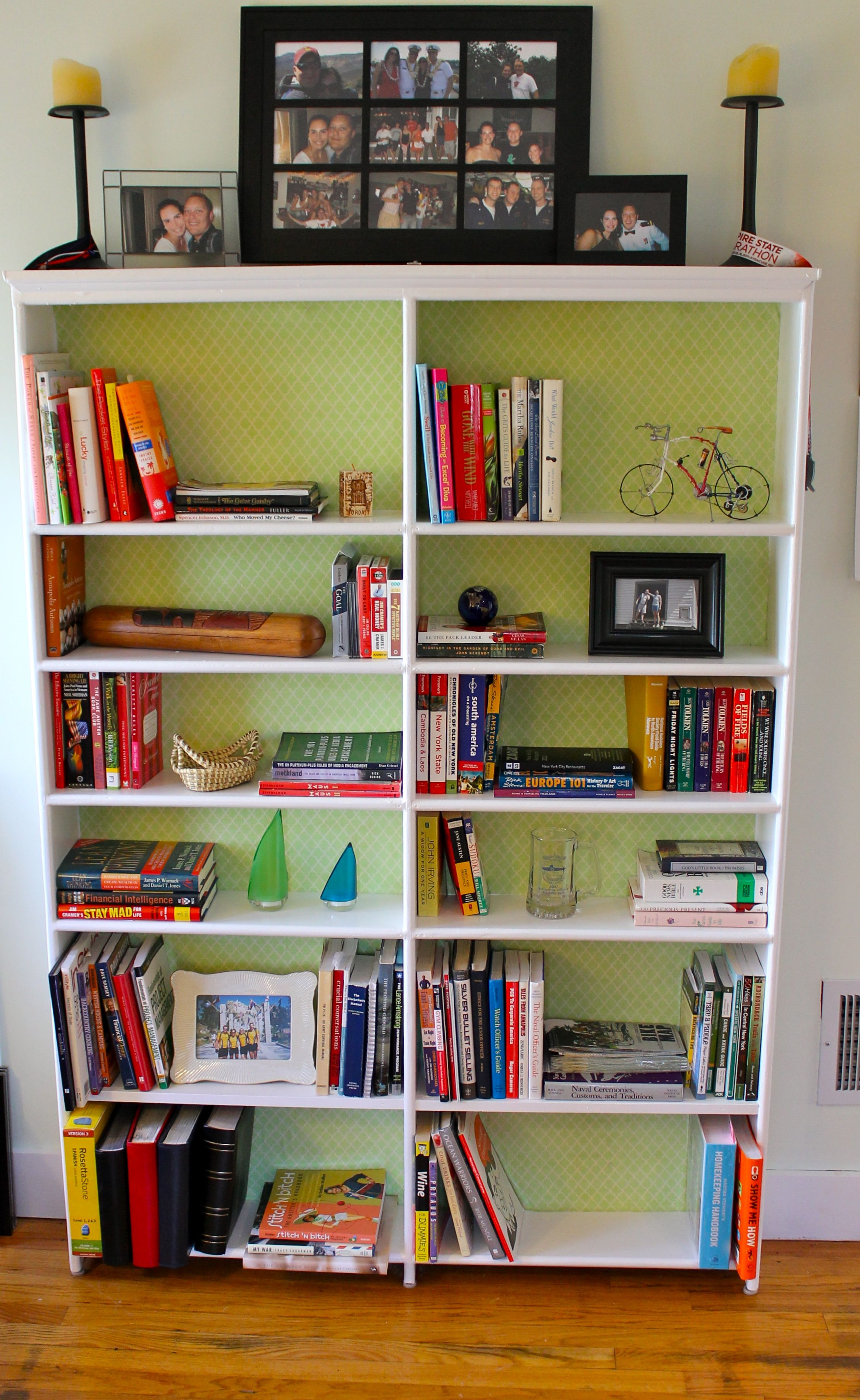 Bookshelf after - Almost Free Makeover