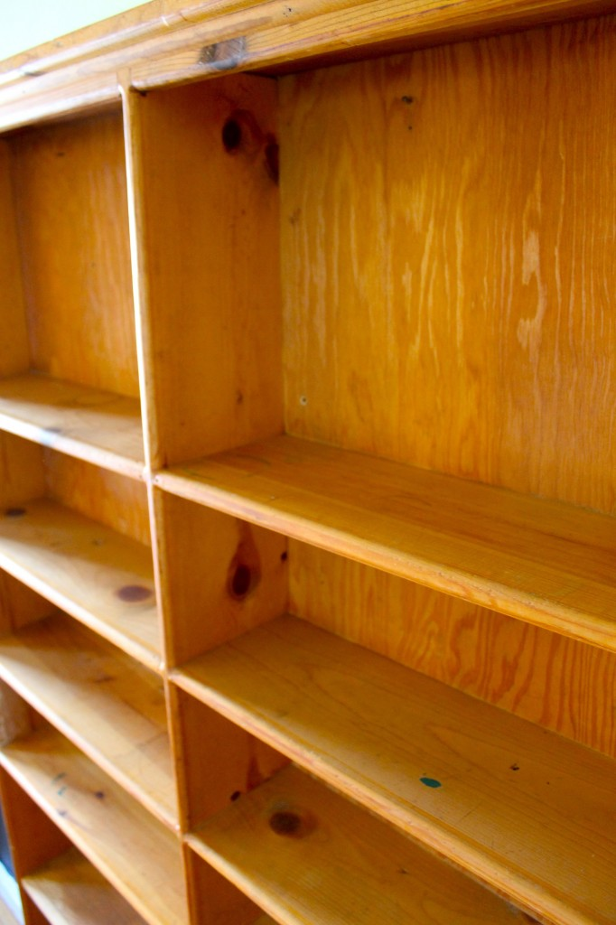 Bookshelf before close up 682x1024 - Almost Free Makeover