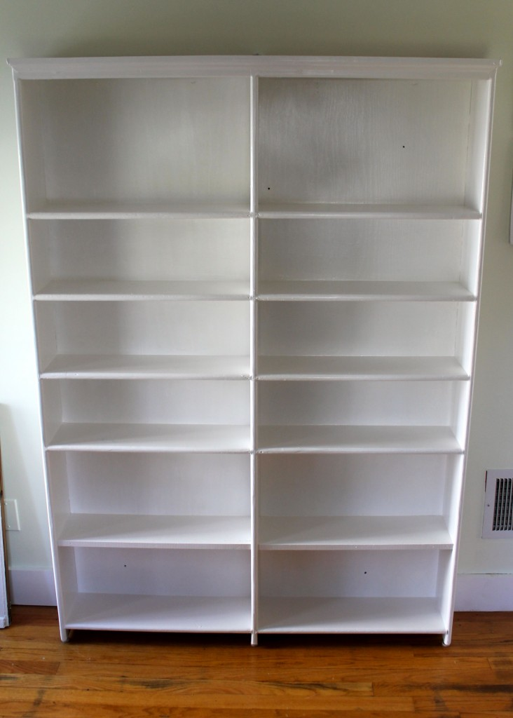 Bookshelf white 732x1024 - Almost Free Makeover