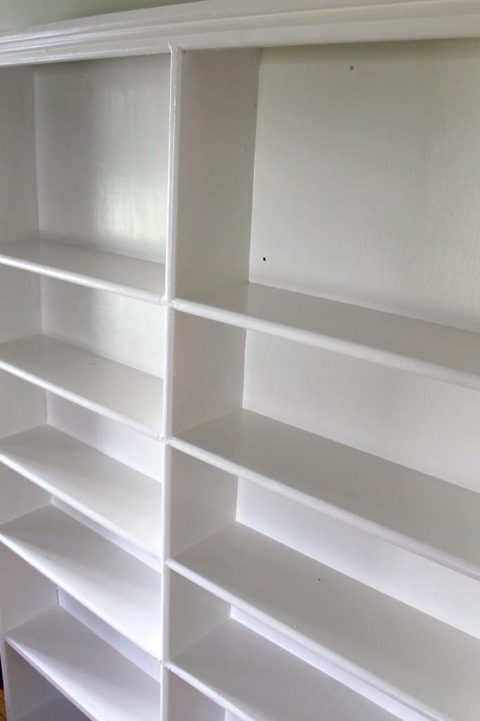 Bookshelf white side 682x1024 - Almost Free Makeover