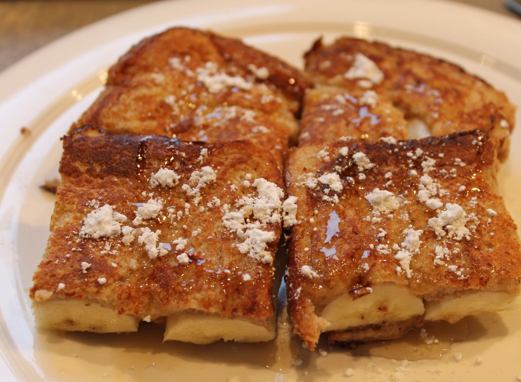 French Toast Breakfast Sandwich Banana breakfast sandwiches