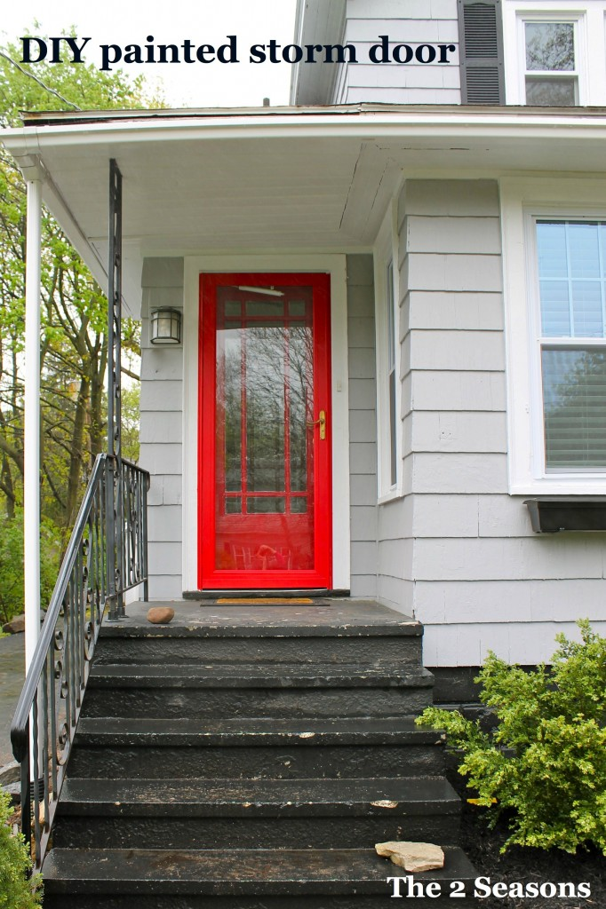 Painted storm door