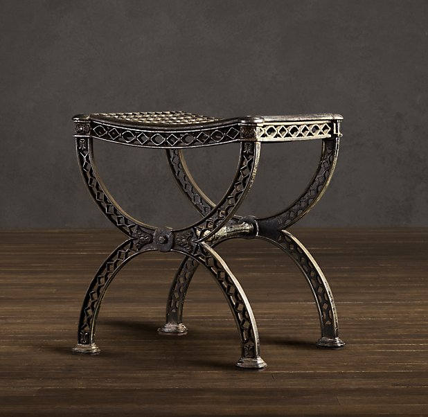 Restoration Hardware French Filigree Stool