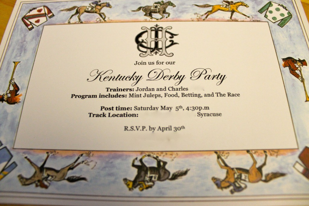 The 2 Seasons The MotherDaughter Lifestyle Blog – Derby Party Invitations