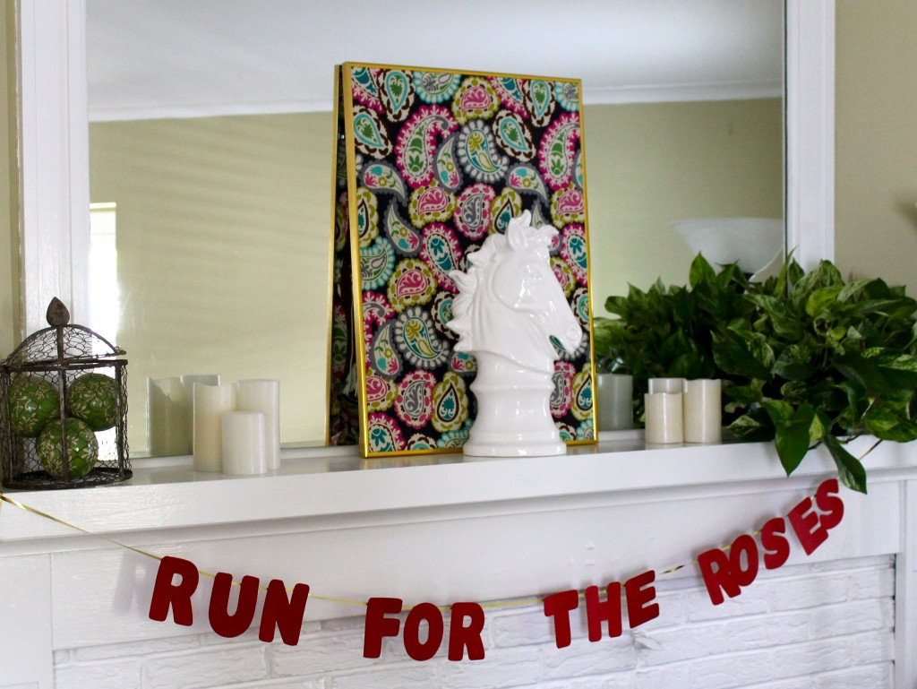 Derby mantel 1024x769 - How To Host A Derby Party