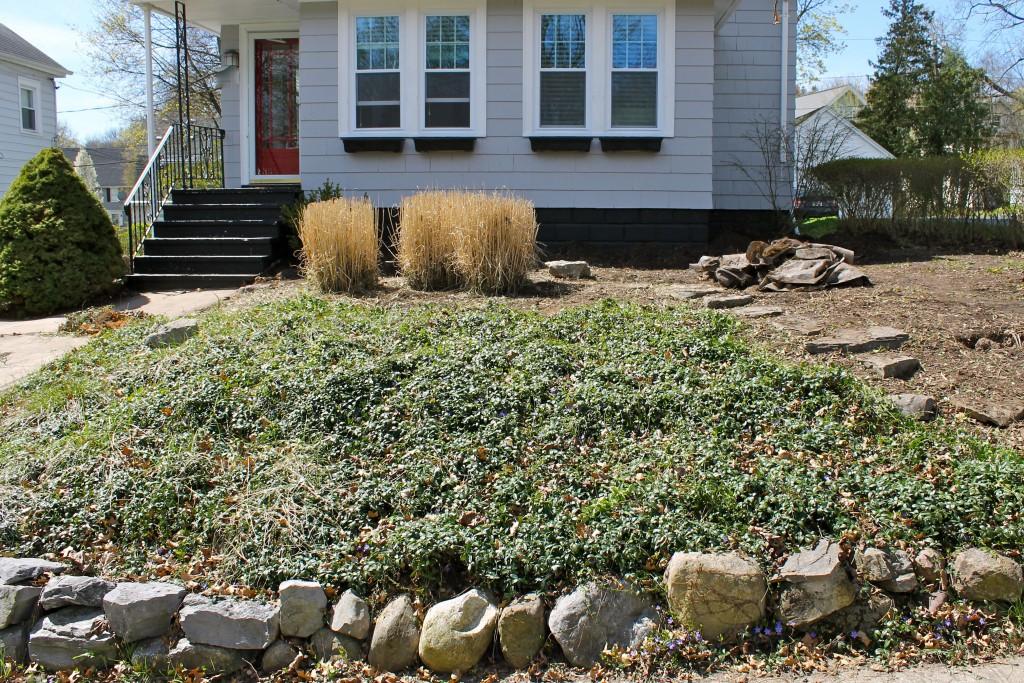 Yard half progree 1024x683 - Our Front Yard Progress