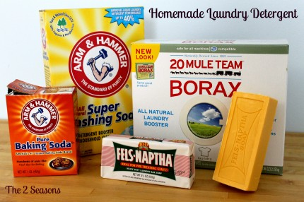 Detergent NEW ingredients 430x286 - Homemade Detergent