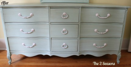 Dresser after c 430x220 - Painted and Glazed Dresser