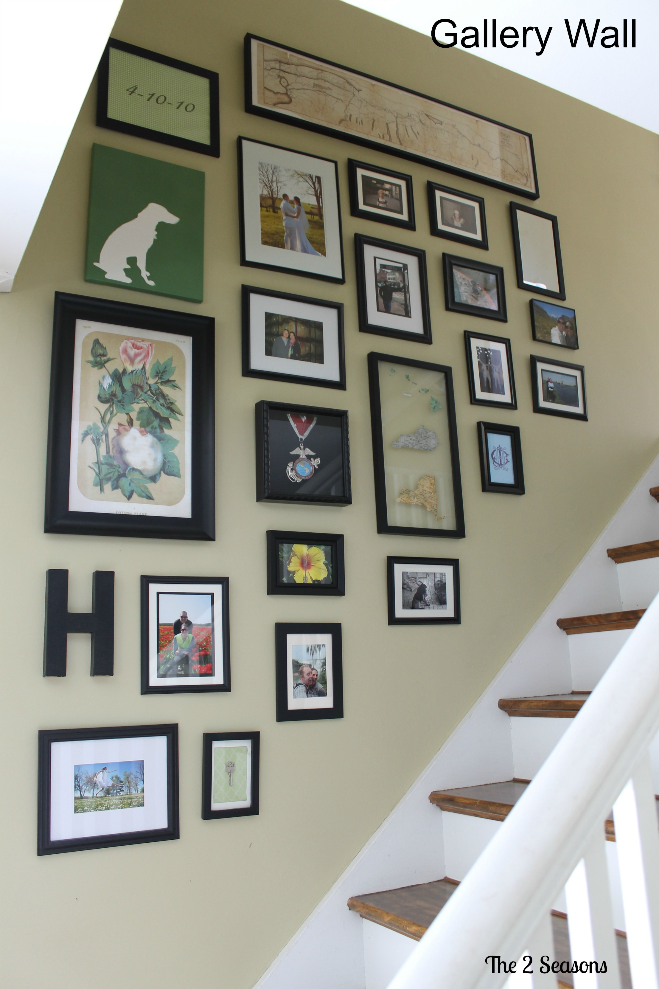 Gallery Wall After - The 2 Seasons in Country Sampler Magazine