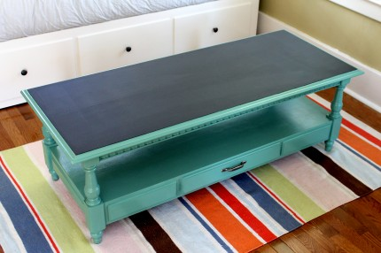Coffe after full 430x286 - Chalkboard Coffee Table