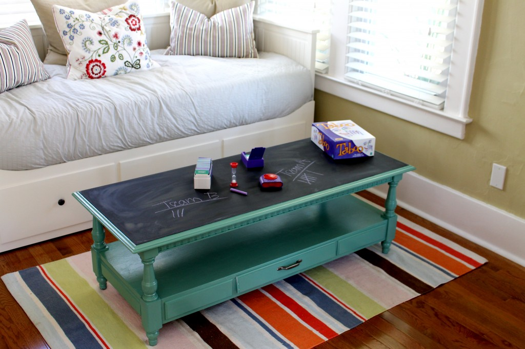Coffee table with game 1024x682 - Free Coffee Table Becomes Fab Game Table