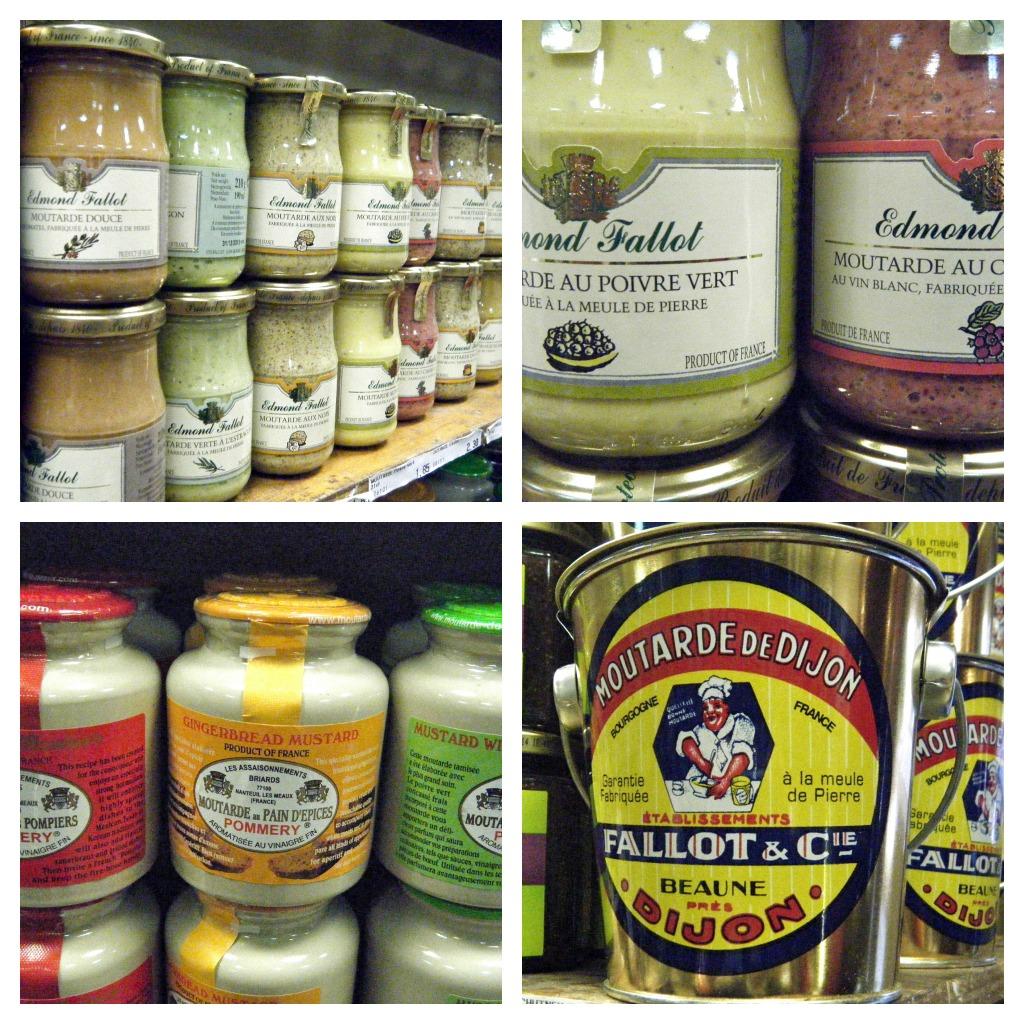 Mustard Collage - Shopping in Julia Child's Paris