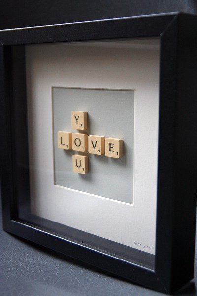 Pinterest - Scrabble Art for Our Gallery Wall
