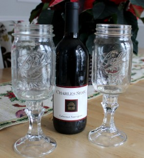 Mason with wine 295x323 - Red Neck wine Glasses