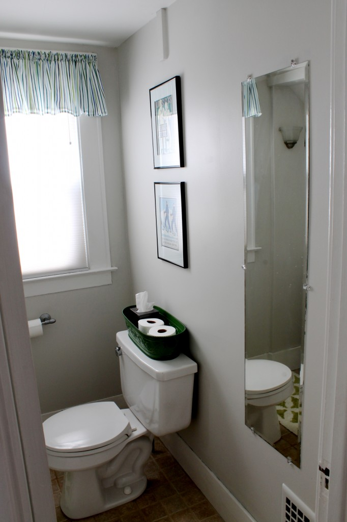 Bath mirror to frame 682x1024 - We Updated the Powder Room