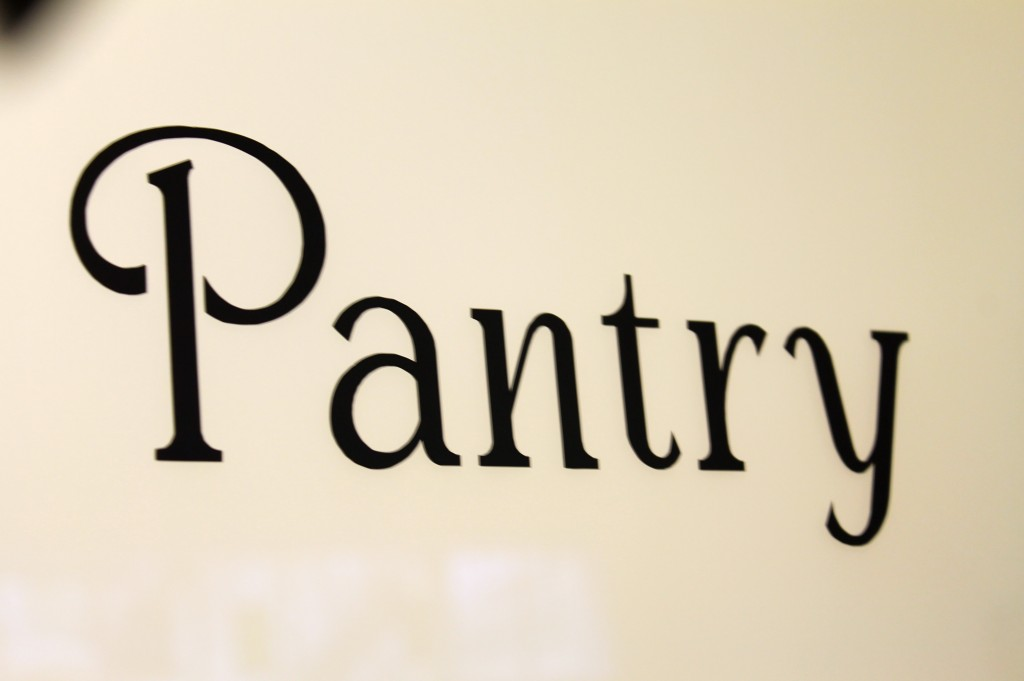 IMG 4343 1024x681   New Pantry Sign