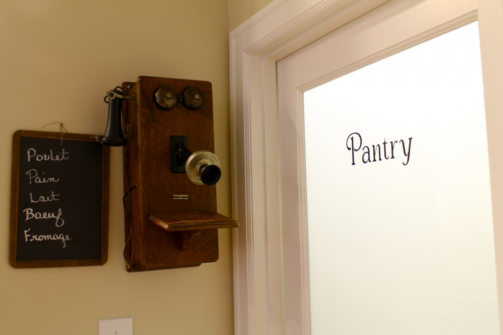 New Pantry Sign