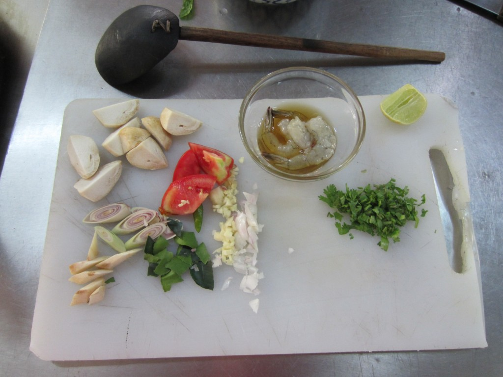 Tom Yam Goong Ingredients