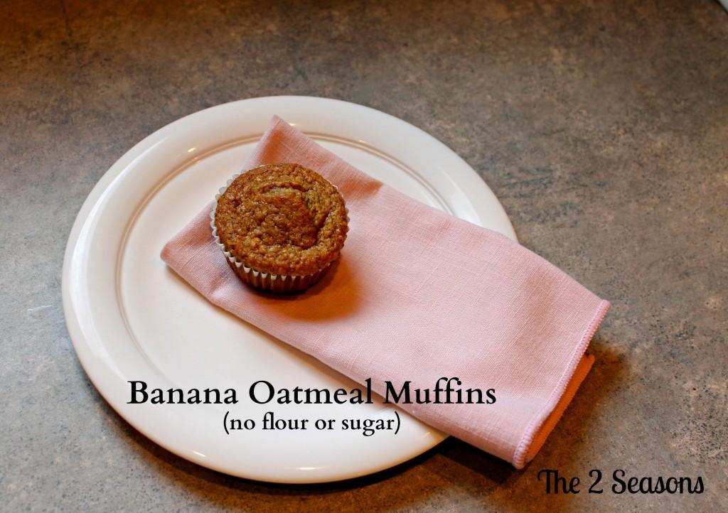 No flour or sugar banana muffin