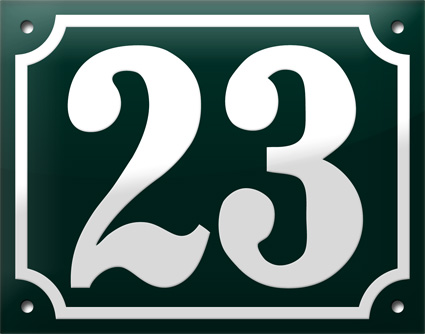 """7 - """"We Love Those European House Numbers"""" Give-Away"""