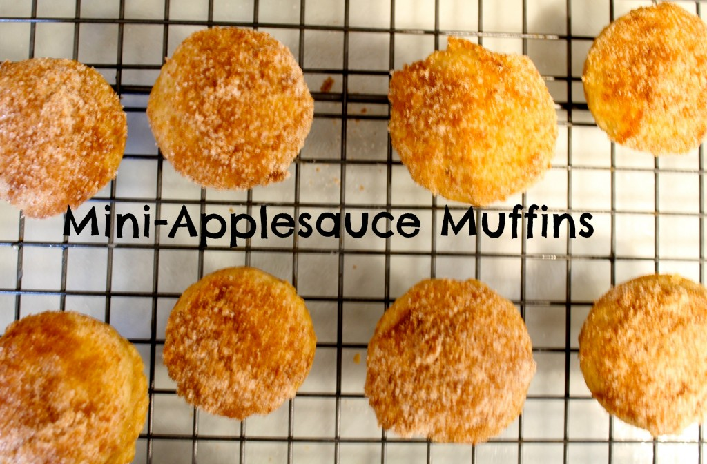 Applesauce Muffins 1024x672 - Mini-Applesauce Muffins