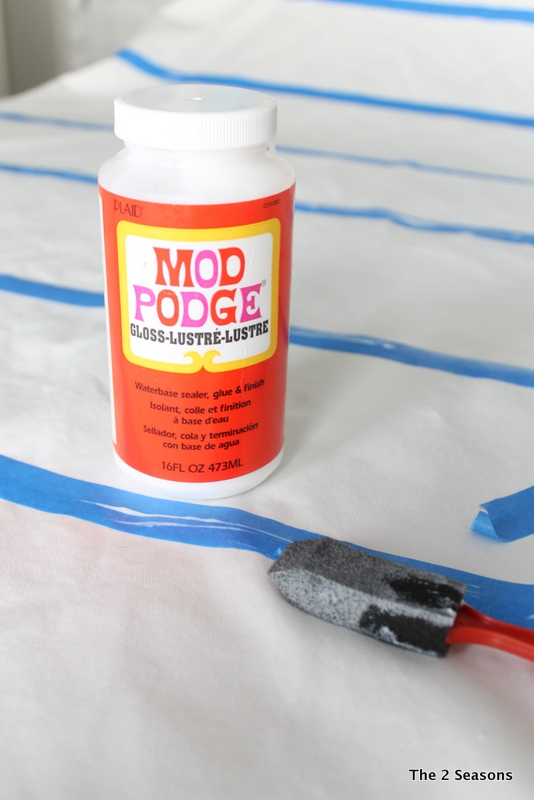 Mod Podge for Curtain