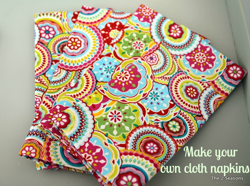 Napkins new - Make Your Own Cloth Napkins